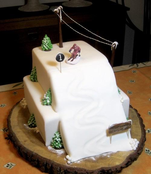 Skihelling taart