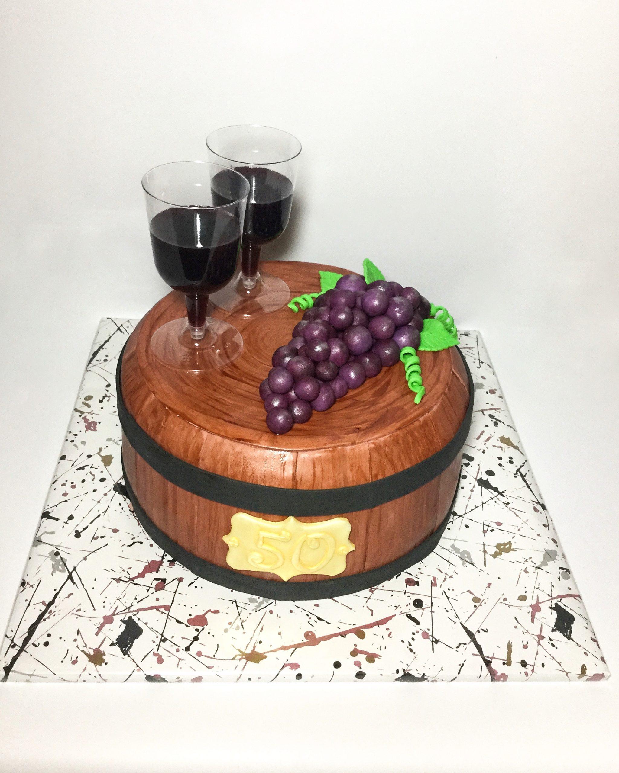 Wijnvat taart