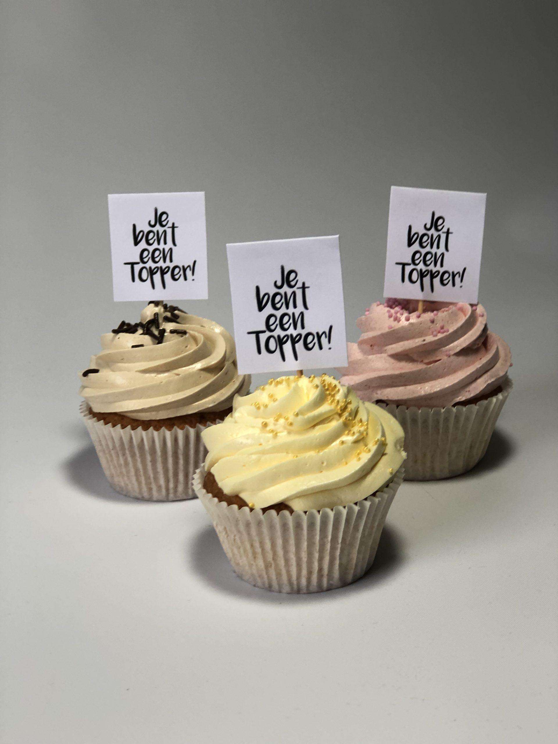Cupcakes zorgtopper